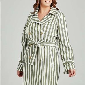NWT Alter'd state green&white striped tren…